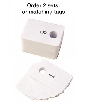 Coat Check Tags Plastic 201-300