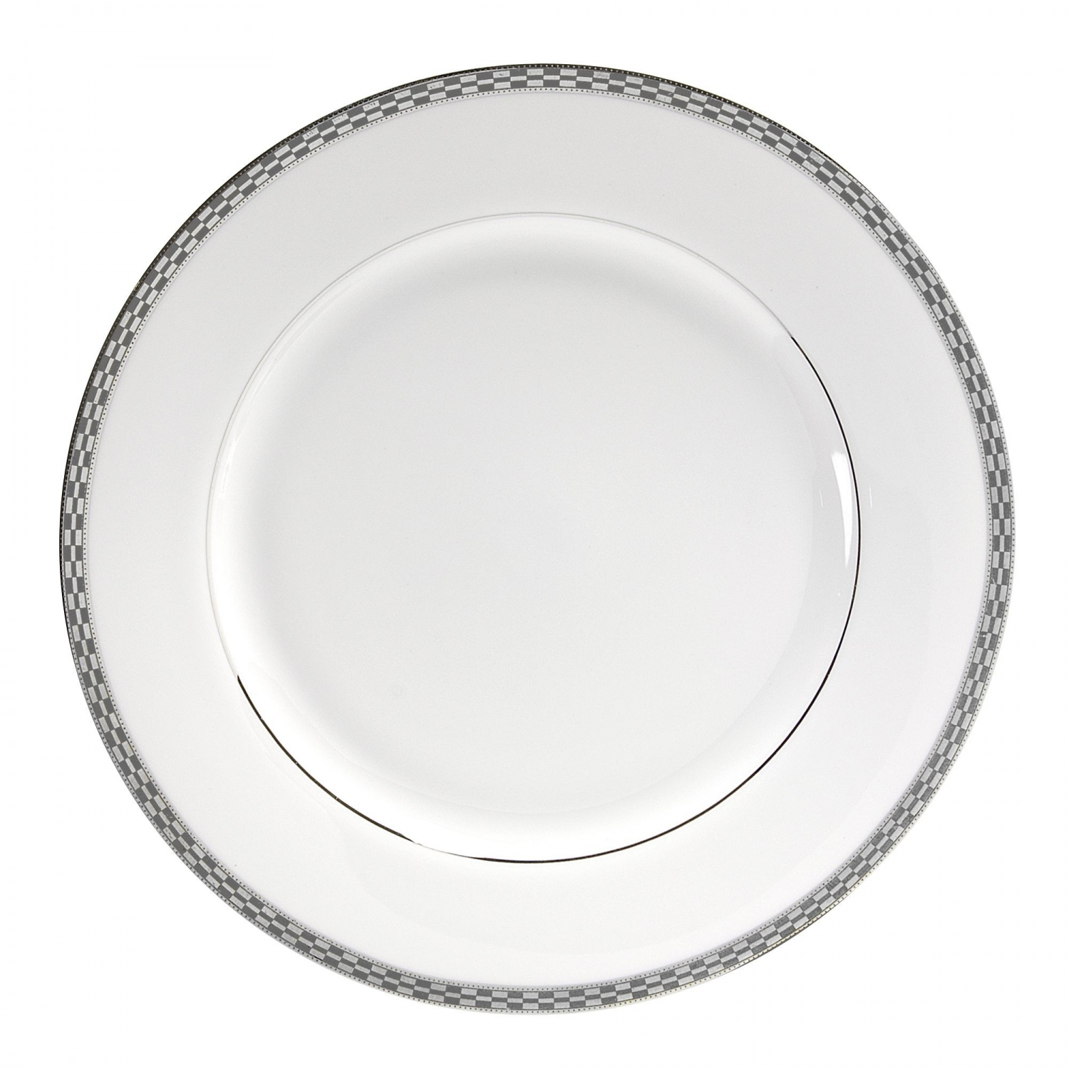 "10 Strawberry Street ATH-24P 12"" Athens Platinum Charger Plate"