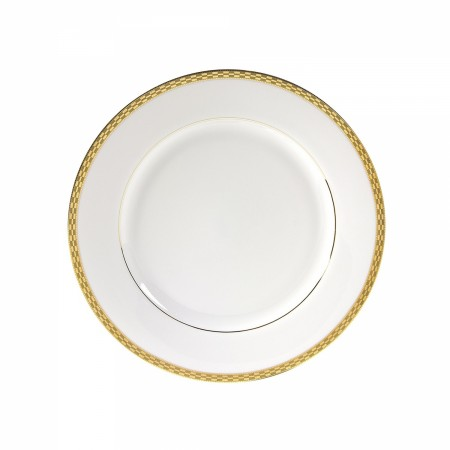 """10 Strawberry Street ATH-2G 9"""" Athens Gold Luncheon Plate"""