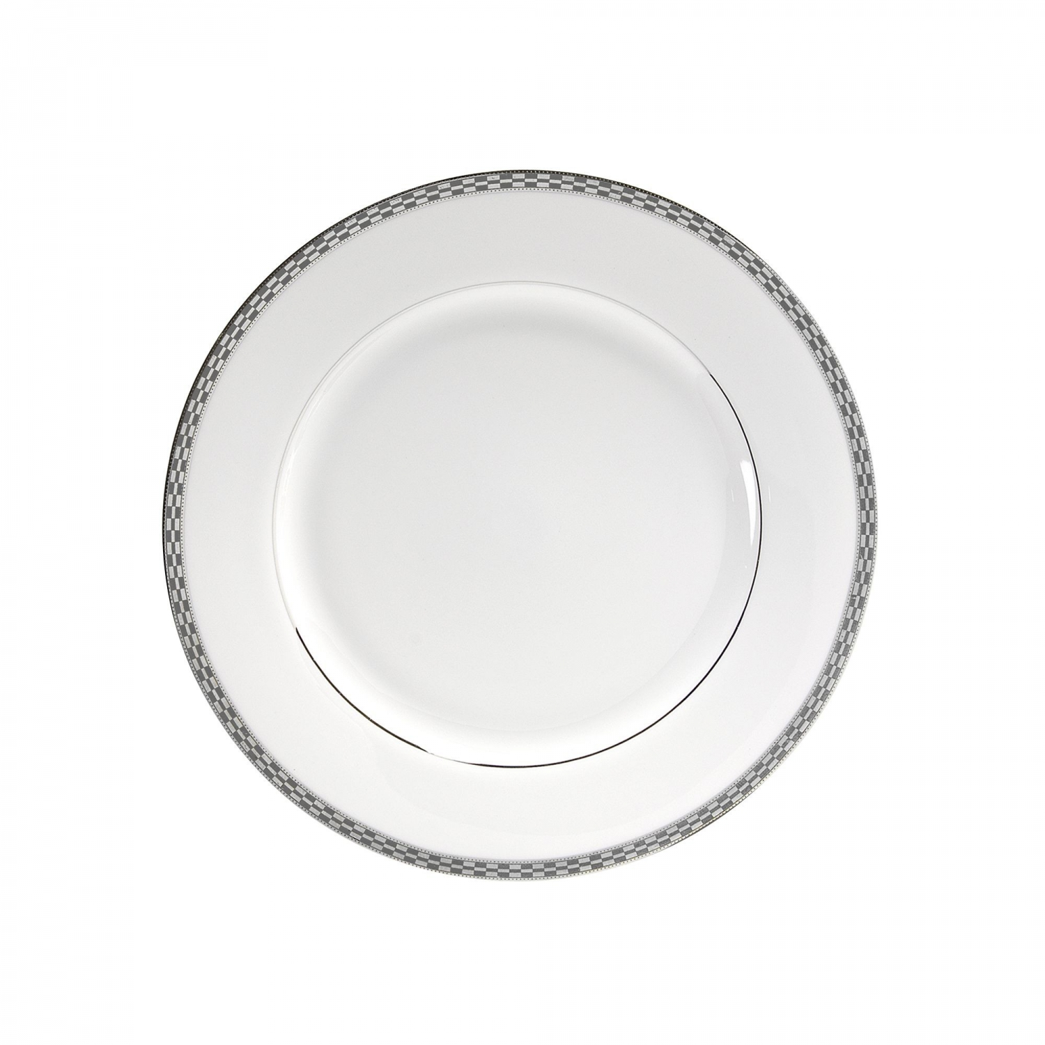 """10 Strawberry Street ATH-2P 9-1/8"""" Athens Platinum Luncheon Plate"""