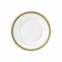 "10 Strawberry Street ATH-4G 8"" Athens Gold Salad / Dessert Plate - 24 pcs"