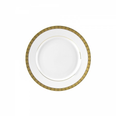 """10 Strawberry Street ATH-5G 7"""" Athens Gold Bread and Butter Plate - 24 pcs"""