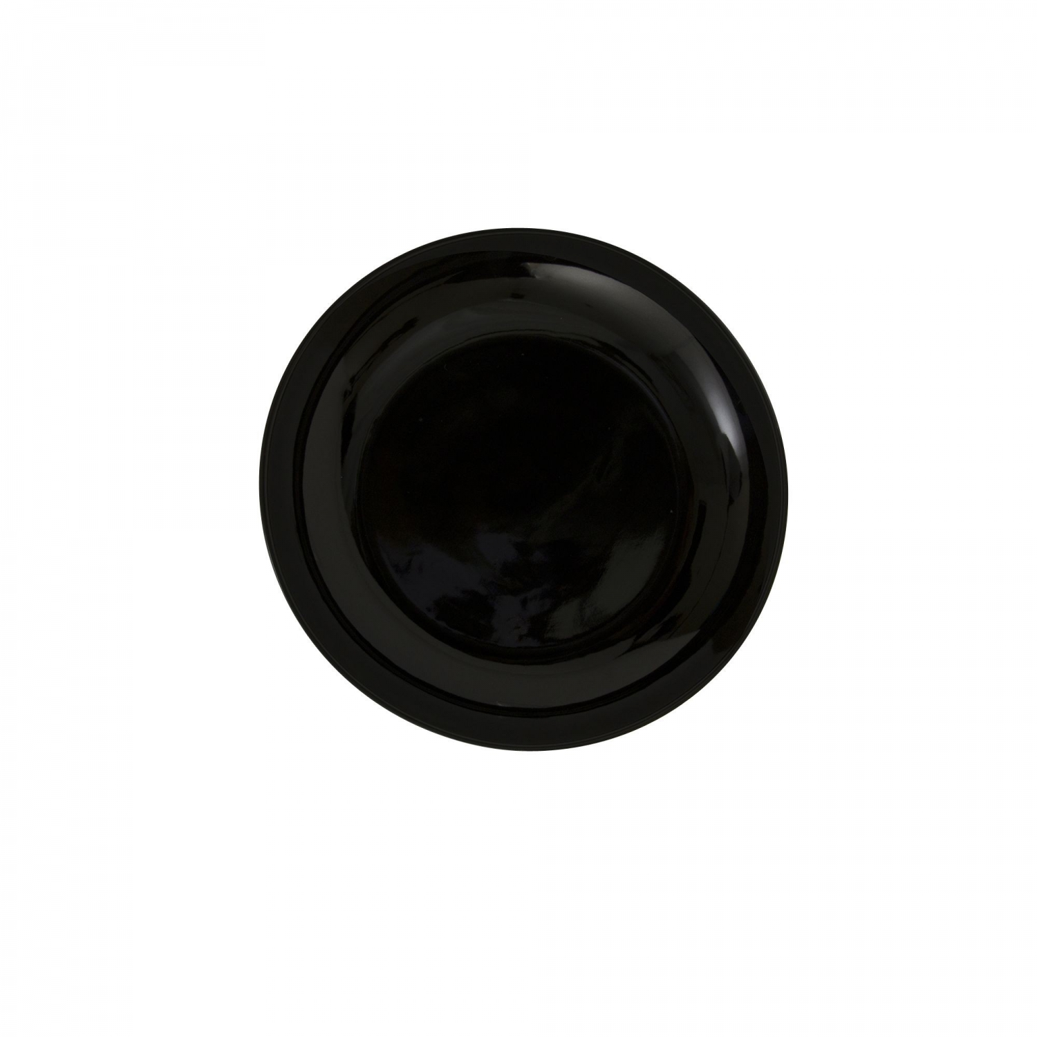"""10 Strawberry Street BCP0005 6-1/2"""" Black Coupe Bread and Butter Plate"""