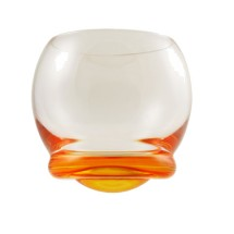 10 Strawberry Street BELL-ORNG 13-1/5 oz. Wobble Glass Orange - 48 pcs