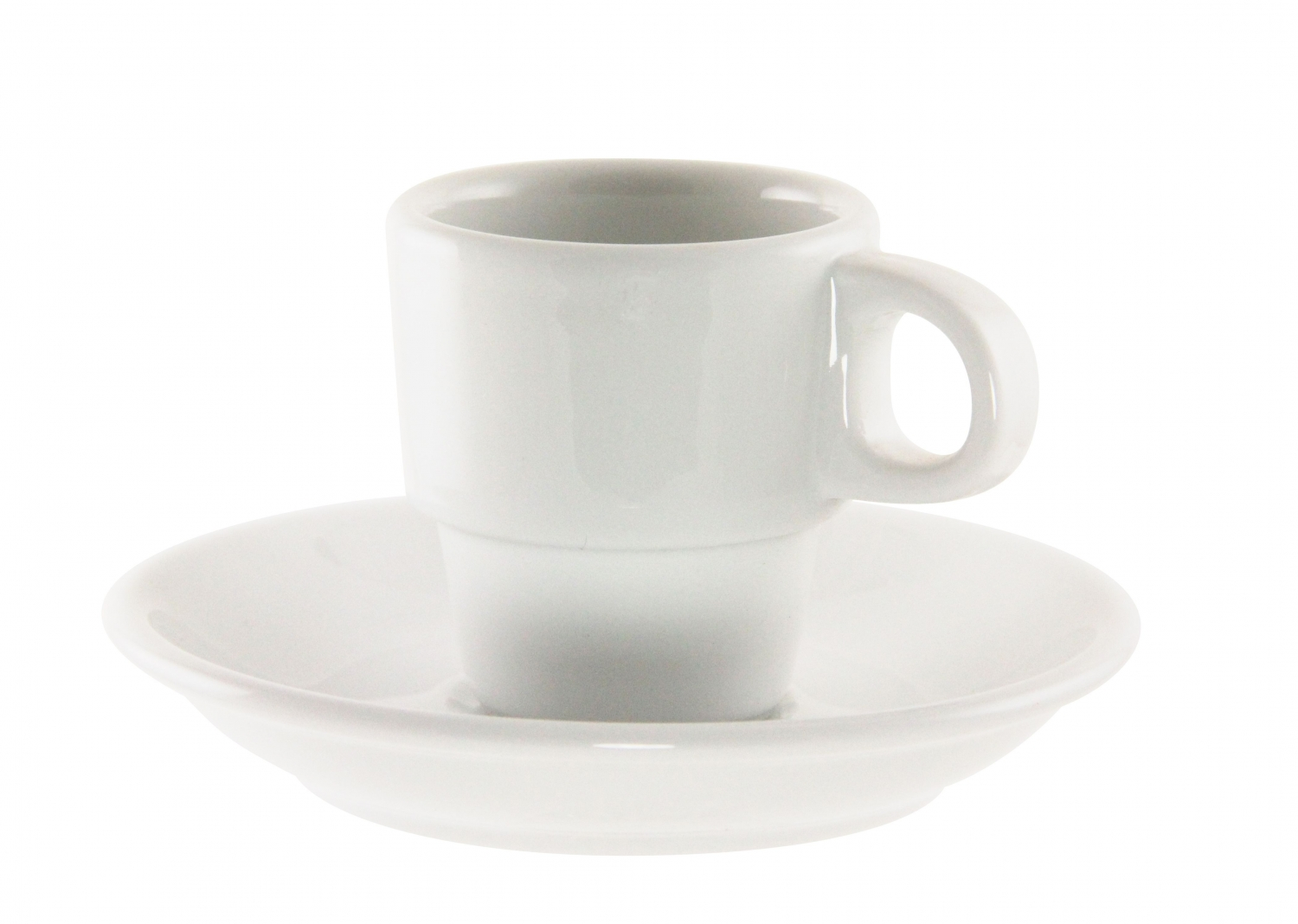 10 Strawberry Street BISTRO-9 2 oz. White Demitasse Cup and Saucer Set