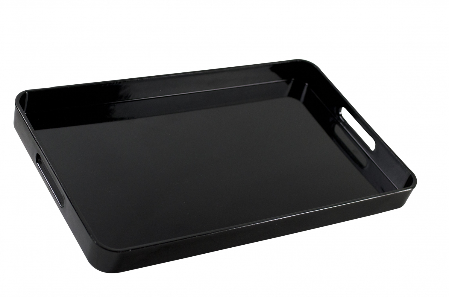 10 Strawberry Street BLK-REC Black Lacquer Rectangular Serving Tray 19.25