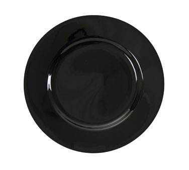 "10 Strawberry Street BRB0001 10-3/4"" Black Rim Dinner Plate"