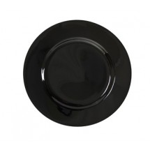 "10 Strawberry Street BRB0002 9-1/8"" Black Rim Luncheon Plate"