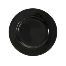 "10 Strawberry Street BRB0004 7-3/4"" Black Rim Salad / Dessert Plate"