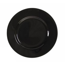 "10 Strawberry Street BRB0005 6-3/4"" Black Rim Bread and Butter Plate"
