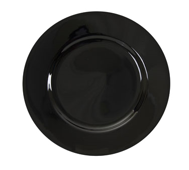 "10 Strawberry Street BRB0024 12"" Black Rim Charger Plate"