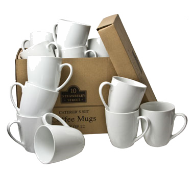 10 Strawberry Street CATERING-12(MUG) 12 oz. Coffee Mug - 24 pcs