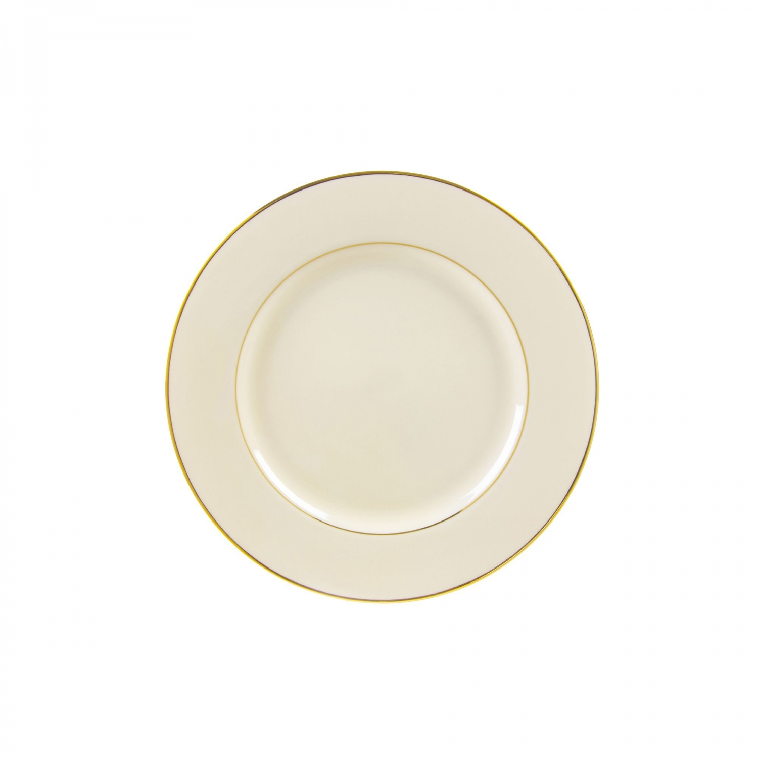 "10 Strawberry Street CGLD0005 6-3/4"" Cream Double Gold Line Bread and Butter Plate"