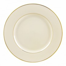 "10 Strawberry Street CGLD0024 12-1/4"" Cream Double Gold Line Charger Plate"