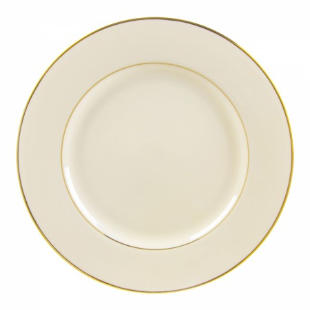 10 Strawberry Street CGLD0024 Cream Double Gold Line Charger Plate 12-1/4""