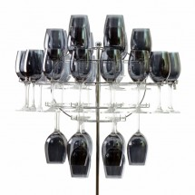10 Strawberry Street CHNDLR-40WINE Hanging Glass Rack - 1 pcs