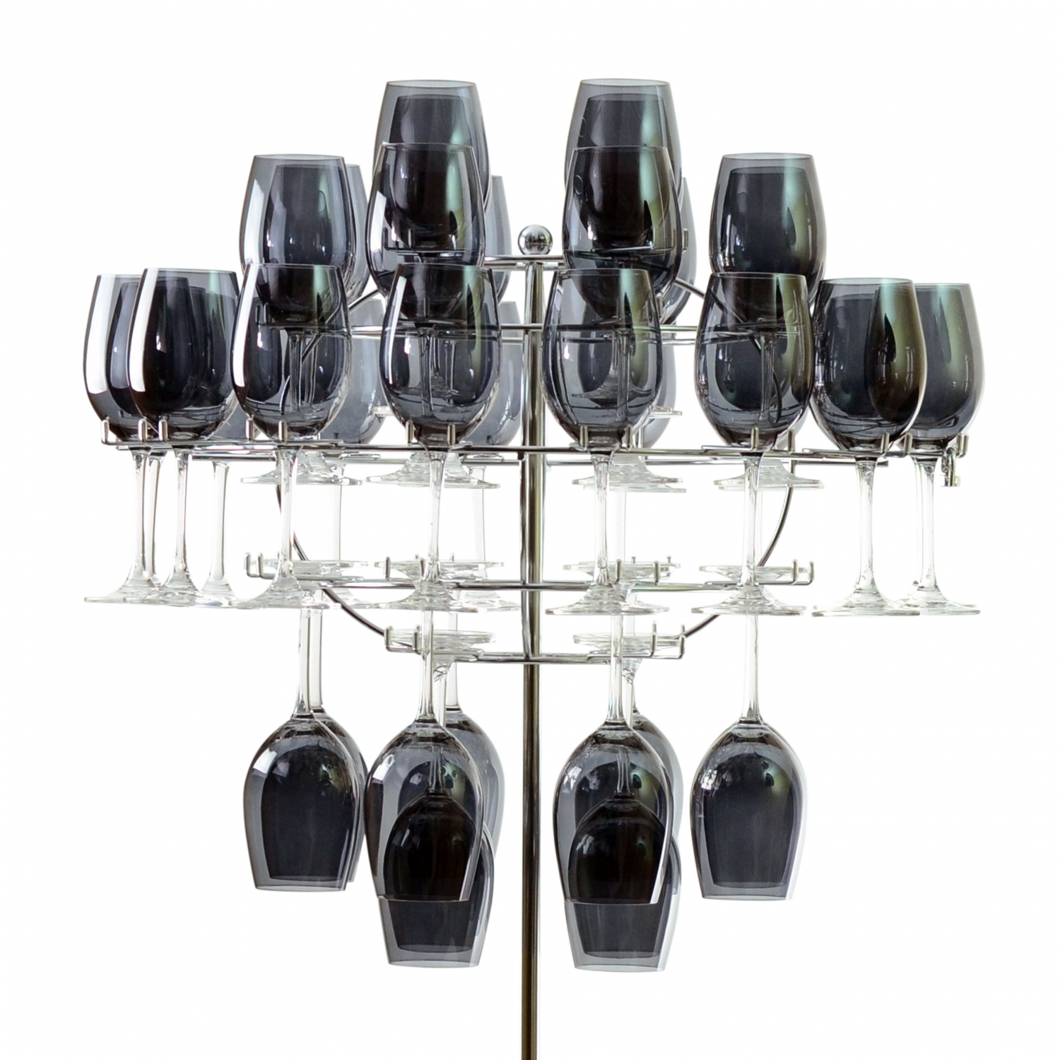 10 Strawberry Street CHNDLR-40WINE Hanging Glass Rack