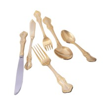 10 Strawberry Street CRWNGLD-SF Crown Royal Gold-Plated Salad Fork - 12 pcs
