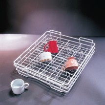 10 Strawberry Street CUP16 16 Compartment Wire Cup Rack - 8 pcs