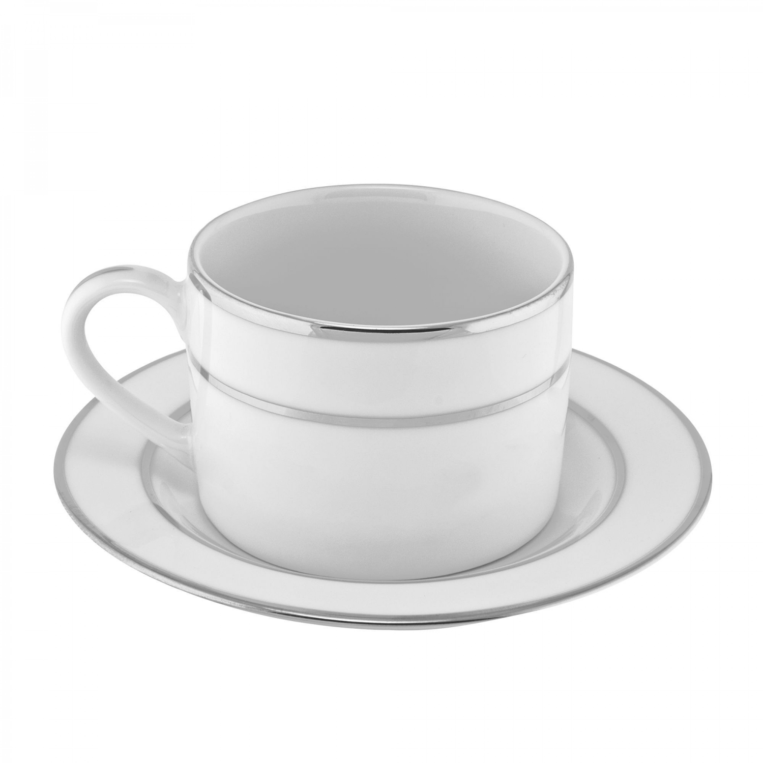 10 Strawberry Street DSL0009 6 oz. Double Silver Line Cup and Saucer