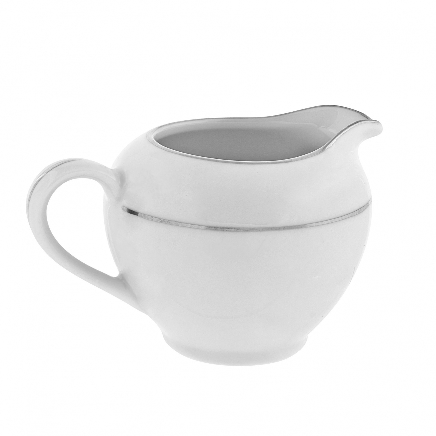 10 Strawberry Street DSL0016 8 oz. Double Silver Line Creamer