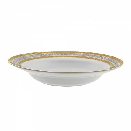 10 Strawberry Street ELE-3 8 oz. Elegance Rim Soup Bowl
