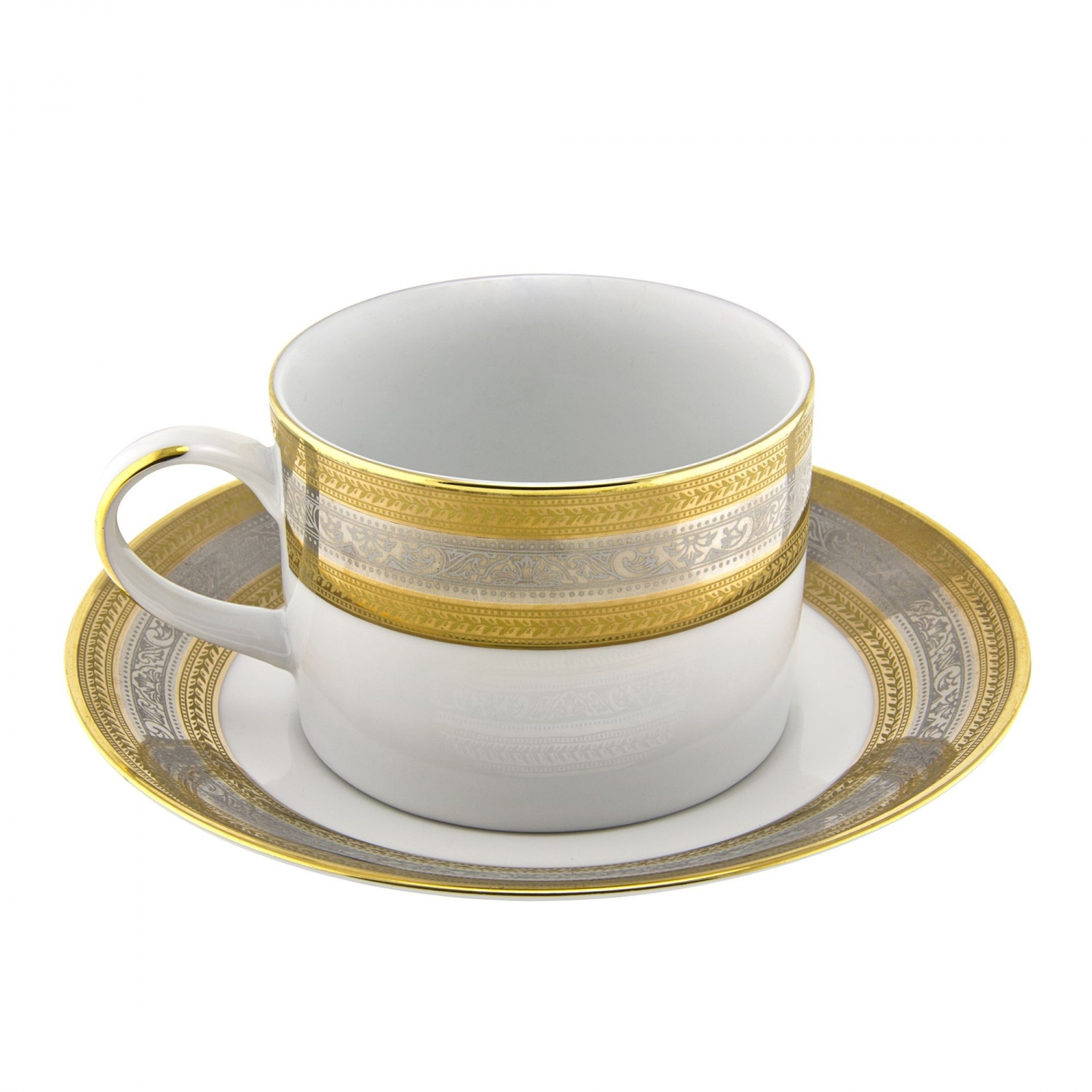 10 Strawberry Street ELE-9 8 oz. Elegance Can Cup and Saucer