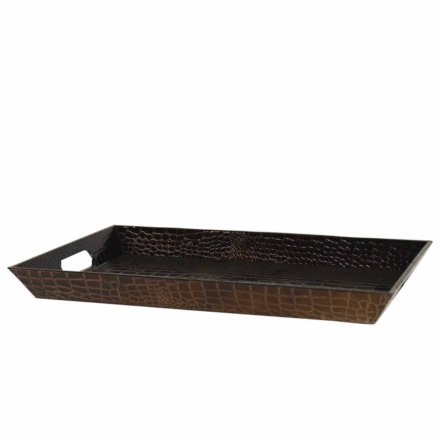10 Strawberry Street GATR-BRNREC Brown Rectangular Gator Serving Tray 18