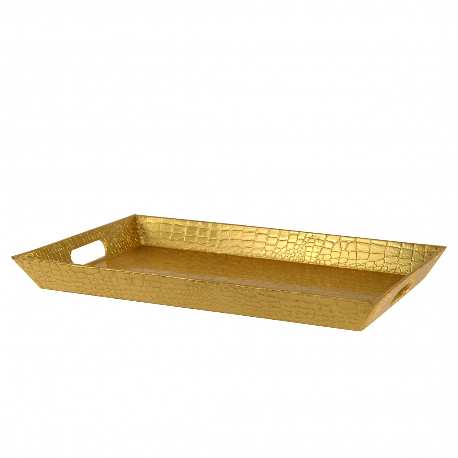 10 Strawberry Street GATR-GLDREC Gold Rectangular Gator Serving Tray 18