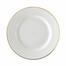 "10 Strawberry Street GL0001 10-3/4"" Gold Line Rim Dinner Plate"
