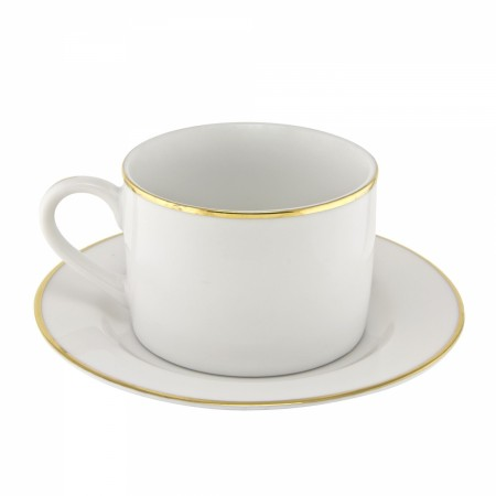 6 Oz Gold Line Rim Can Cup And Saucer