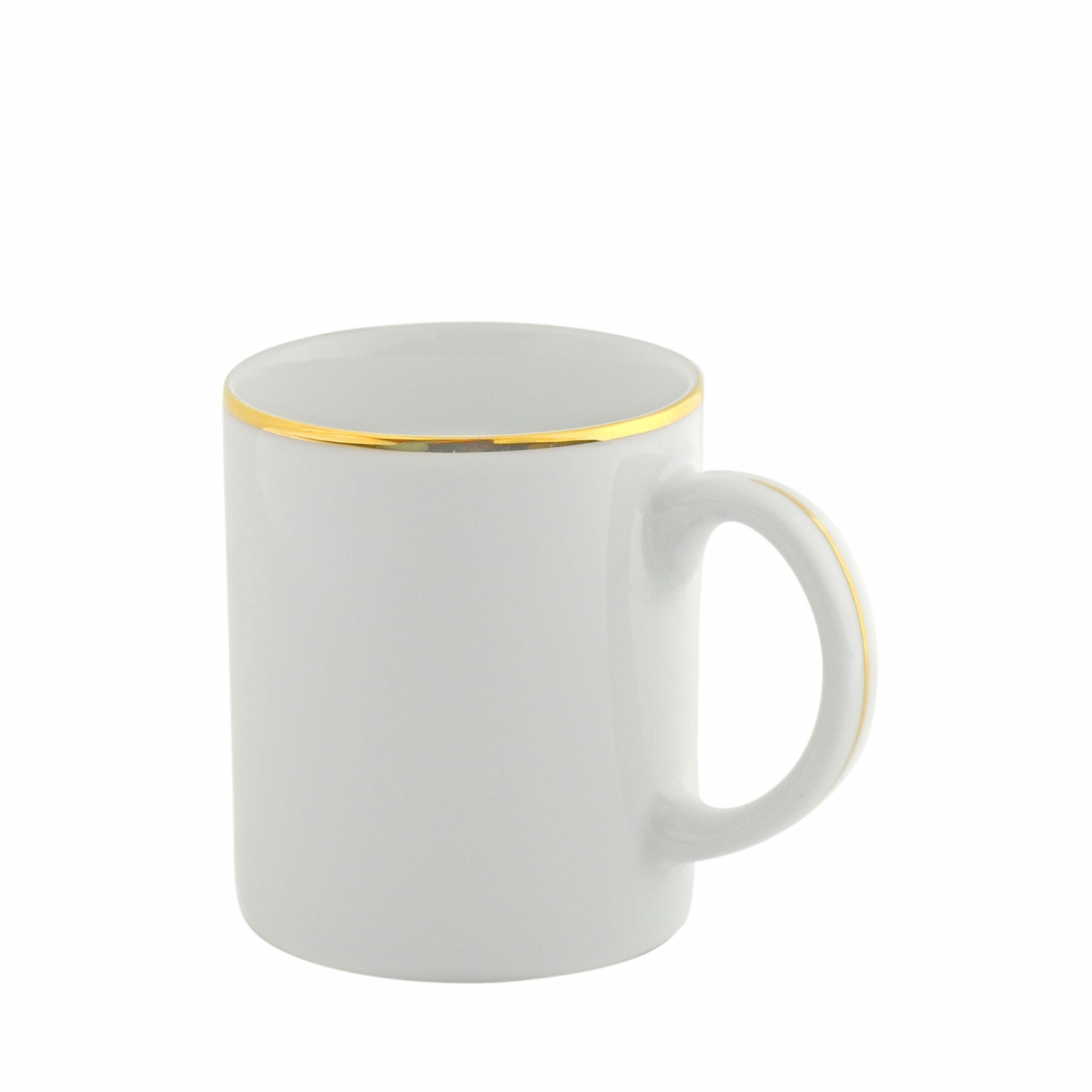 Gold Line Rim Coffee Mug
