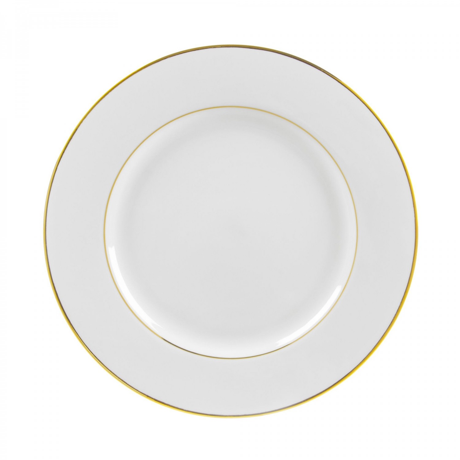 "10 Strawberry Street GLD0001 10-3/4"" Double Gold Line Dinner Plate"
