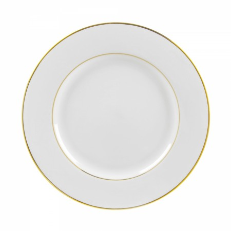 """10 Strawberry Street GLD0001 10-3/4"""" Double Gold Line Dinner Plate"""