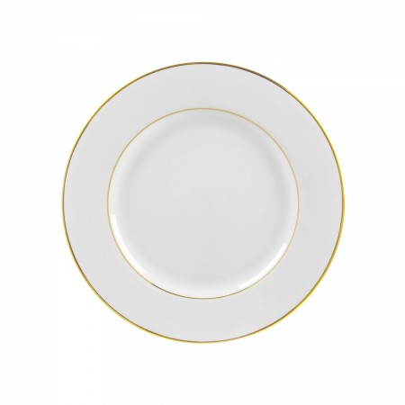 "10 Strawberry Street GLD0002 9-1/8"" Double Gold Line Luncheon Plate"