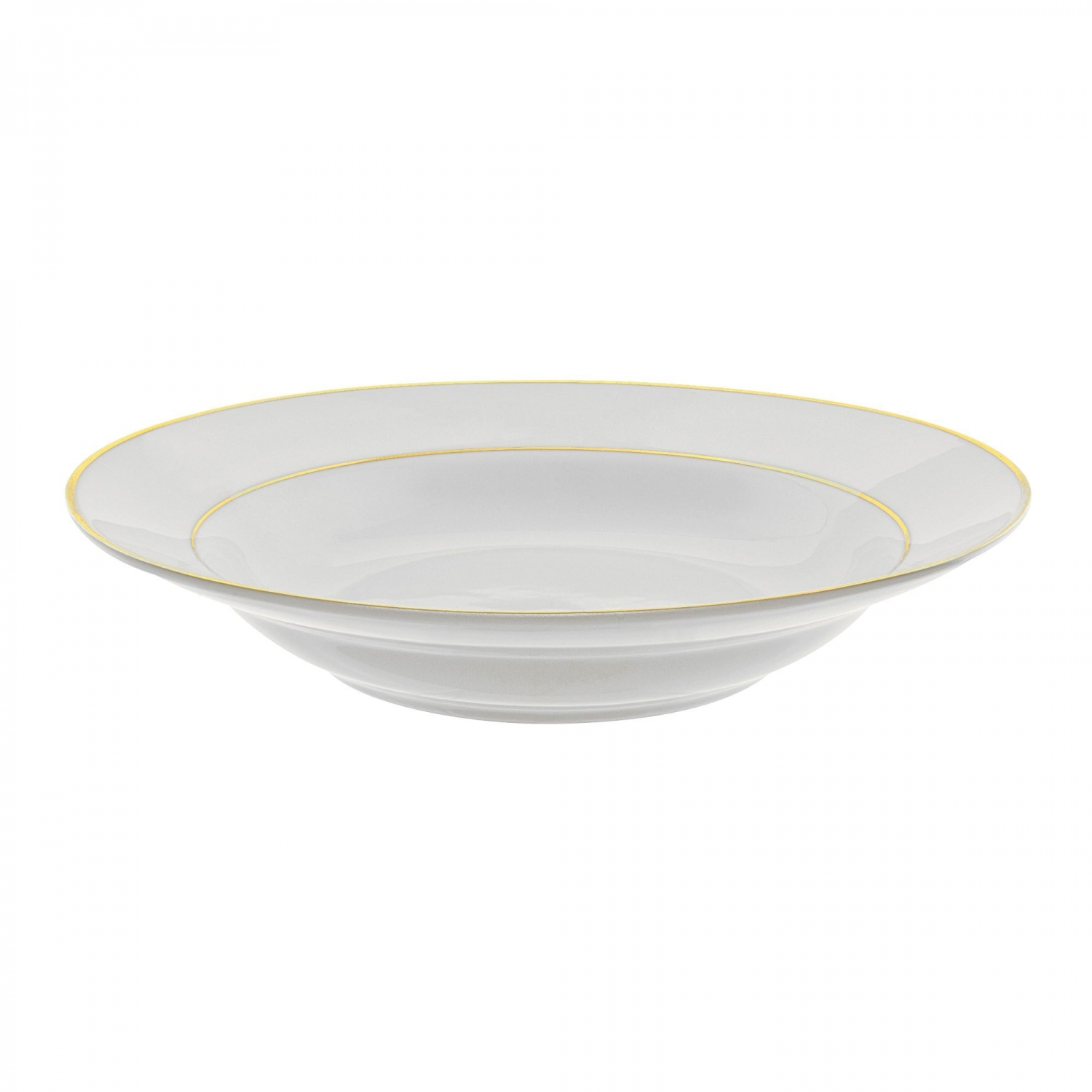 10 Strawberry Street GLD0003 10 oz. Double Gold Line Rim Soup Bowl