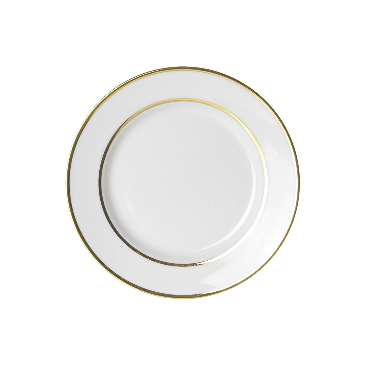 "10 Strawberry Street GLD0004 7-3/4"" Double Gold Line Salad / Dessert Plate"