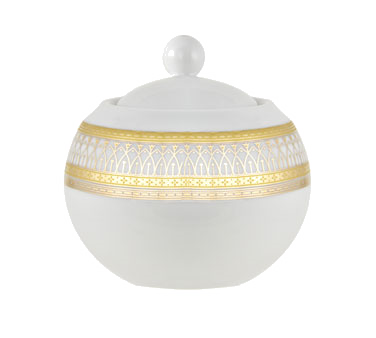 10 Strawberry Street IRIANA-18GLD Iriana Gold Sugar Bowl with Lid 11 oz.