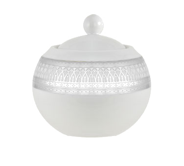 10 Strawberry Street IRIANA-18SLV 11 oz. Iriana Platinum Sugar Bowl with Lid
