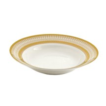 10 Strawberry Street IRIANA-3GLD 8 oz. Iriana Gold Rim Soup Bowl