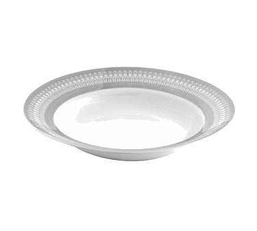 10 Strawberry Street IRIANA-3SLV 8 oz. Iriana Platinum Rim Soup Bowl