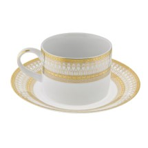 10 Strawberry Street IRIANA-9(GLD) 8 oz. Iriana Gold Can Cup and Saucer