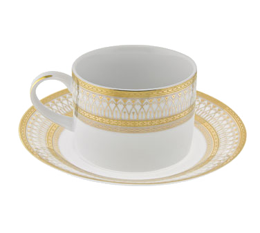 10 Strawberry Street IRIANA-9GLD Iriana Gold Can Cup and Saucer 8 oz.
