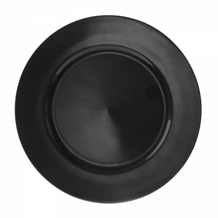 "10 Strawberry Street LABLK-24  Lacquer Round Black Charger Plate 13"" - 24 pcs"