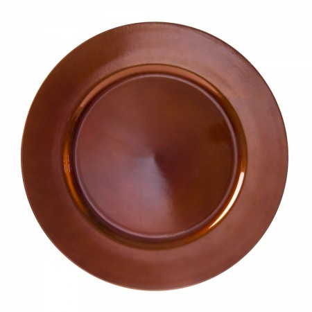 "10 Strawberry Street LACPR-24 Lacquer Round Copper Charger Plate 13""  - 24 pcs"
