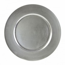 """10 Strawberry Street LAS-24  Lacquer Round Silver Charger Plate 13"""" - 24 pcs"""