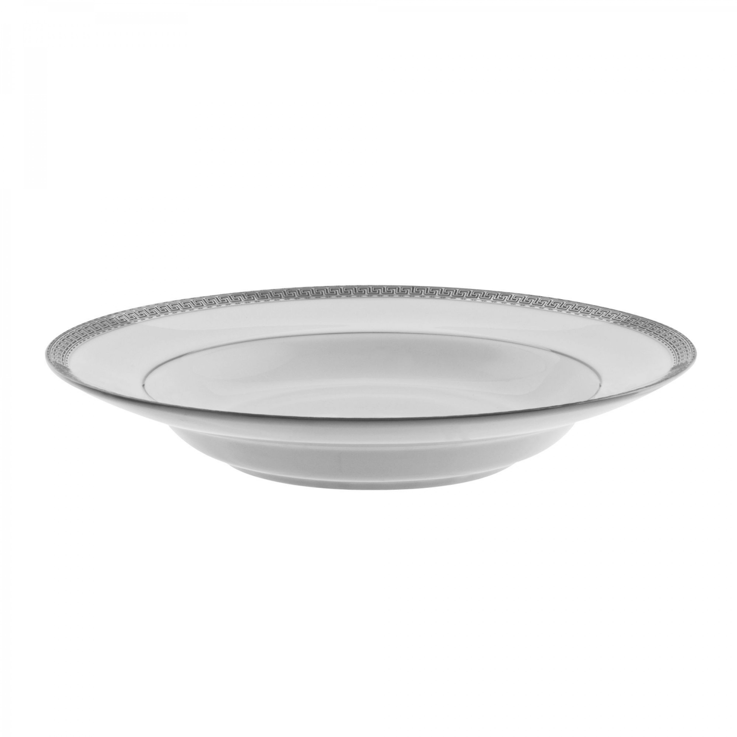 10 Strawberry Street LUX-3P 8 oz. Luxor Platinum Rim Soup Bowl