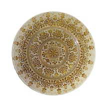 """10 Strawberry Street MON-340BEI-GOLD Monaco Beige / Gold Glass Charger Plate 13-1/4""""  - 6 pcs"""