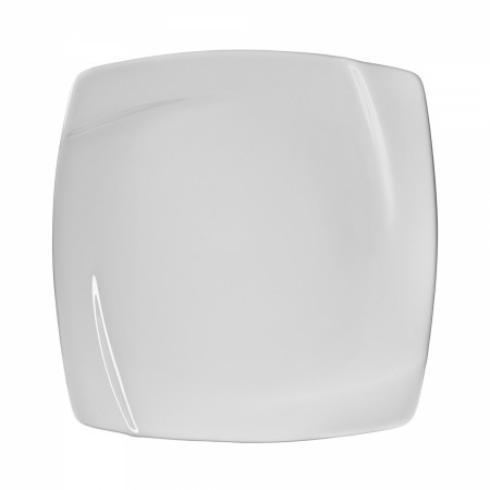 "10 Strawberry Street NOU-1SQ 10-3/4"" Nouve Square White Dinner Plate"