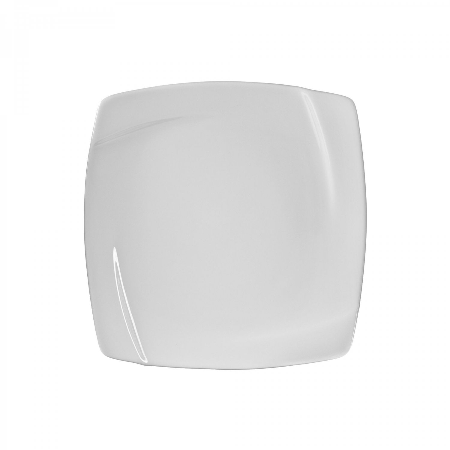 "10 Strawberry Street NOU-4SQ 7-7/8"" Nouve Square White Salad / Dessert Plate"